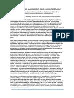 1º Gobierno de Alan García en La Economía