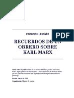 Recuerdos de un obrero sobre Karl Marx