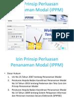 Izin Prinsip Perluasan Penanaman Modal (IPPM) Ppt