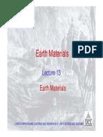 13 Earth Materials