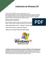 Mejorar El Rendimiento de Windows XP