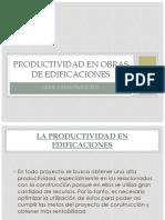 Productividad en Obras de Edificacines