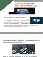 La Solución Pacífica de Las Controversias Internacionales (1)