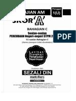 Analisa Soalan Percubaan Negeri STPM P1 2018_2019