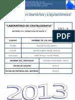 238300327 Informe n 8 Difraccion de Rayos x Laboratorio de Cristalografia