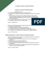 Strategic management chapter 3 tesst bank