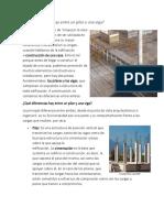 Diferencia de pilares, vigas y muro(carga y albañileria)