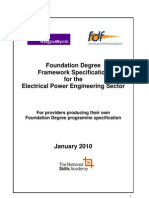 Foundation Degree Framework