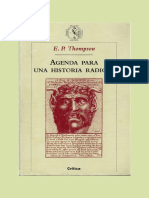 Thompson Edward Palmer - Agenda Para Una Historia Radical.PDF