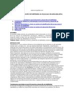 La Formación y Desarrollo de Habilidades en El Proceso Docente Educativo.