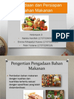 Pengadaan Dan Persiapan Bahan Makanan (Gizi Kuliner )