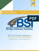 API Soil Model Validation