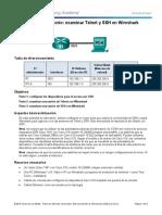 11.2.4.7 Lab - Examining Telnet and SSH in Wireshark