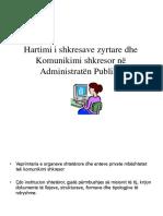 Hartimi i Shkresave Zyrtare Dhe Komunikimi Shkresor Në Administratën Publike