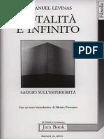 Emmanuel Lévinas Totalità e infinito. Saggio sullesteriorità