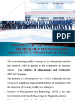 Institute of Management and Technology Punnapra (Imt- Presentation