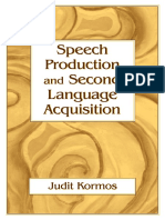 Speech Production and Second Language Acquisition