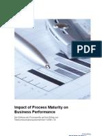 Detecon-Studie Impact of Process Maturity on Business Performance. Der Einfluss der Prozessreife auf den Erfolg von Telekommunikationsunternehmen