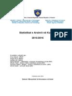 Arsimit Në Kosovë 2015 2016