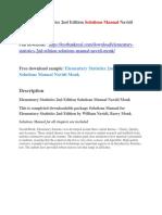 Elementary Statistics 2nd Edition Solutions Manual Navidi Monk