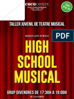 Poster High School Musical 2018-2019 (Divendres)
