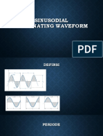 Sinusodial Alternating Waveform