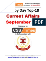 9- Day by Day Current Affairs September 2018