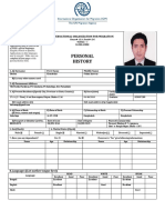 Personal History Form 1