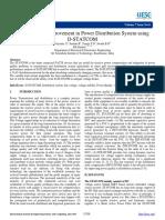 Cbd100576e7d988126798bc20add4a9b.power Quality Improvement in Power Distribution System Using D-STATCOM