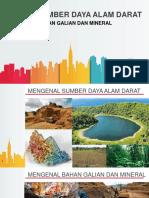 Sistem Sumber Daya Alam Darat  MIneral dan Bahan Galian