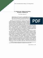 El Derecho Del Trabajo en Espana Balance y Perspectiva