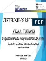 Certificate -Lac Session