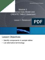 Course 1 Module 03 Lesson 1