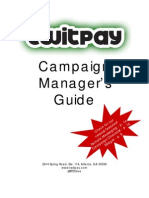 Twitpay Campaign Manager's Guide