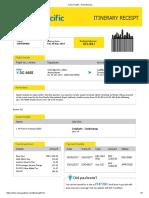 Print Itinerary (Roman Kinjung Cotabato-Zamboanga)