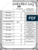 s7- parent communication log