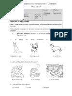 Evaluacion 1º Unidad Lenguaje Vocales.