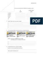 Ejercicios Preterito Indefinido Actividades 1-9