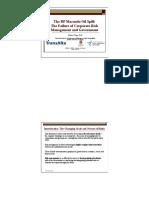 BP Macondo Oil Spill -Failureof Corp Risk Mgt and Govt Reg - Apr 10 2012