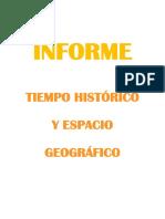 Tiempo Histórico - Espacio Geográfico Informe