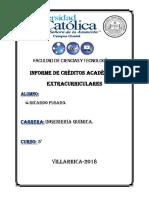 Informe de Créditos Académicos Extracurriculares