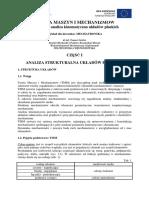 Struktura i Analiza Kinematyczna Ukladow Plaskich w