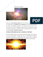 Teorías Del Origen Del Universo