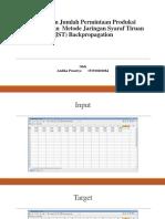 Peramalan Jumlah Permintaan Produksi Menggunakan Metode Jaringan Syaraf