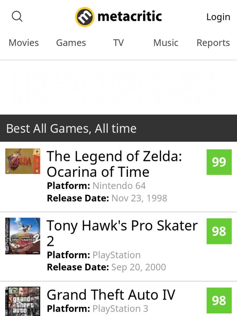 Best Video Games of All Time - Metacritic   The Legend Of Zelda   Wii