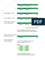 Calcule La Diferencia Entre Las Fechas