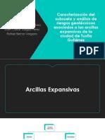 Caracterización del subsuelo y análisis de riesgos geotécnicos asociados a las arcillas expansivas de la ciudad de Tuxtla Gutiérrez.pptx