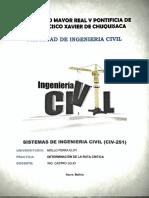 Determinación de la  Ruta Crítica sistemas de ingeniería civil