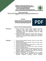 Sk. 9.1.2.Ep.2 Budaya Mutu Dan Keselamatan Pasien Dalam Pelayanan Klinis Di Uptd Di Puskesmas Banggai