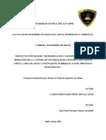Costos de Extraccion Canteras Chaupi Chupa